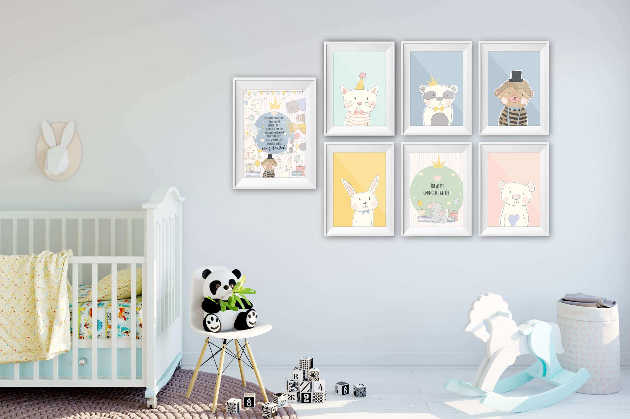 geschenk zur geburt posterset willkommen f r jedes babyzimmer. Black Bedroom Furniture Sets. Home Design Ideas