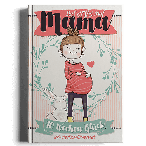 Das erste Mal Mama Schwangerschaftstagebuch Geschenk für werdende Mütter Schwangerschaftskalender
