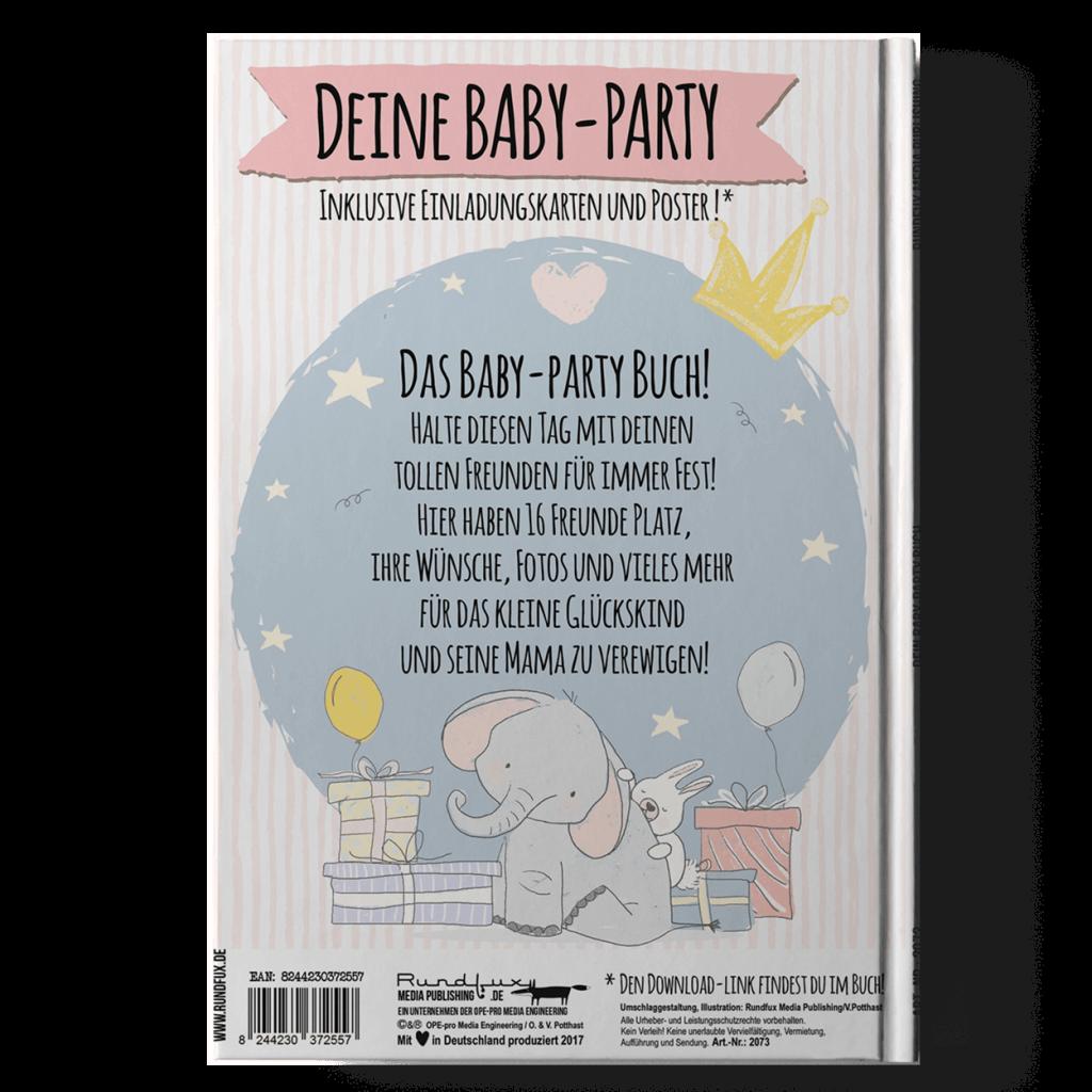 Hallo Baby Dein Baby-Party Buch Rueckseite