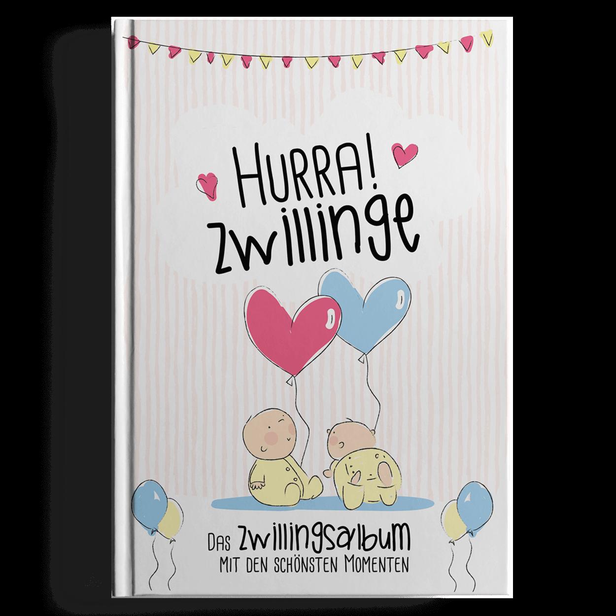 Hurra Zwillinge Ein Babyalbum Für Das 1 Jahr