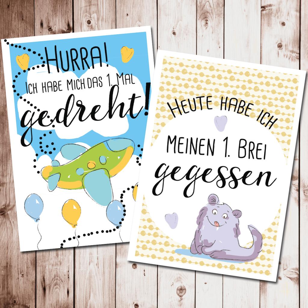 Meilensteinkarten - Das erste Babyjahr