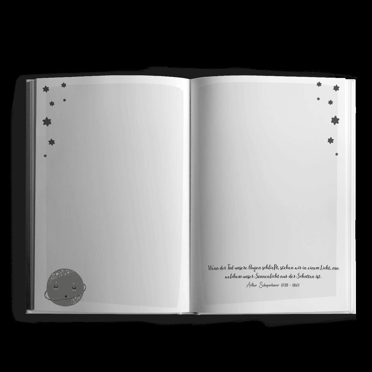 Sternenkind   Erinnerungs  & Trauerbewältigungsbuch bei Fehlgeburt
