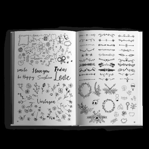 Das große XXL-Handlettering - Doodle Buch Innenseiten 4