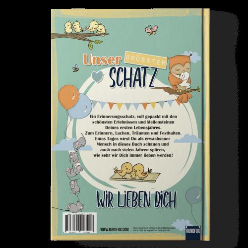 Hallo kleines Wunder - Babytagebuchbuch A4_Back Cover Produktbild Shop