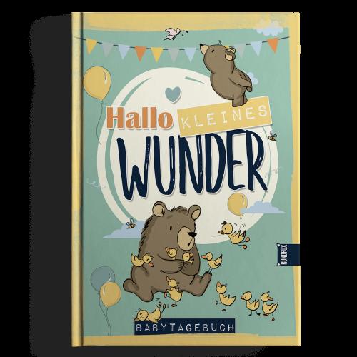 Hallo kleines Wunder - Babytagebuchbuch A4 Produktbild Shop