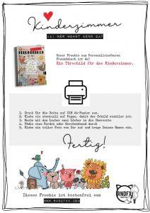 Kostenloses Kinderzimmer-Türschild zum Freundebuch | Rundfux ...