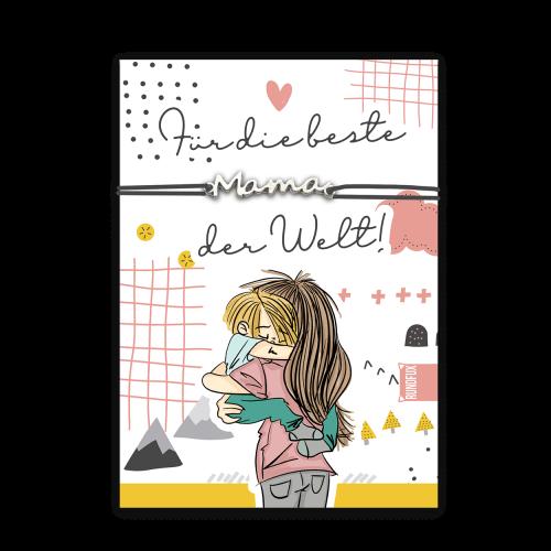 Geschenkkarte mit Armband: Für die beste Mama der Welt
