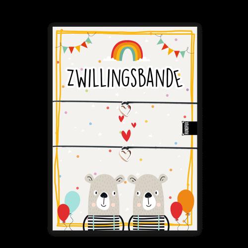 Geschenkkarte für Zwillinge mit Armband und Herz