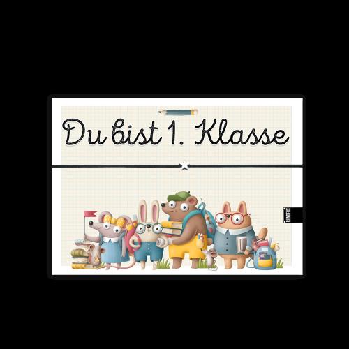 Erste kLasse Wunscharmband Karte mit Stern