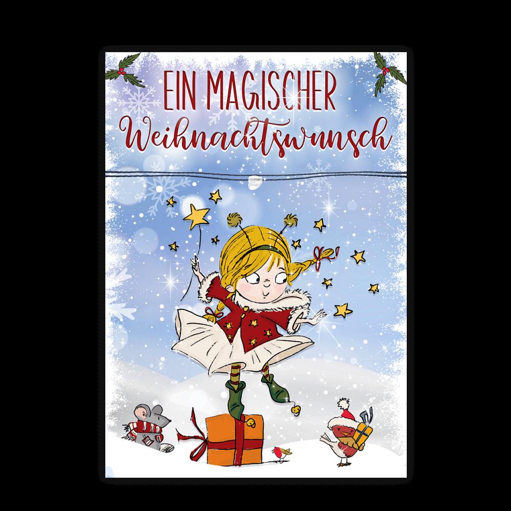 Weihnachtskarte mit Wunscharmband für Kinder 1