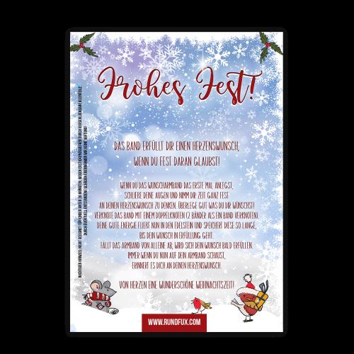 Weihnachtskarte mit Wunscharmband für Kinder